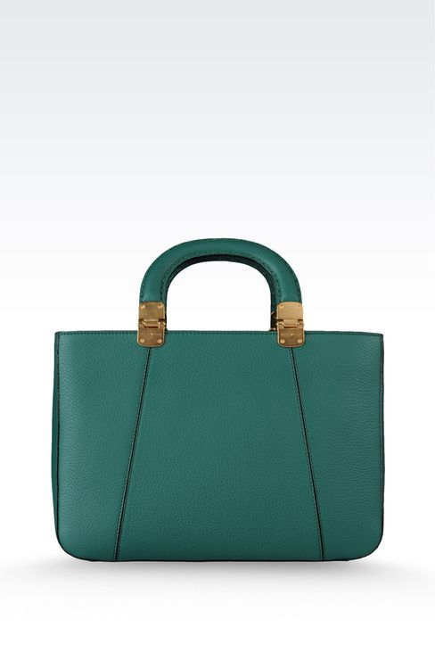calfskin handbag with detachable shoulder strap: Shoppers Women by Armani - 2