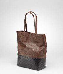 Tote BagBagsLeather, Textile fibersBrown Bottega Veneta