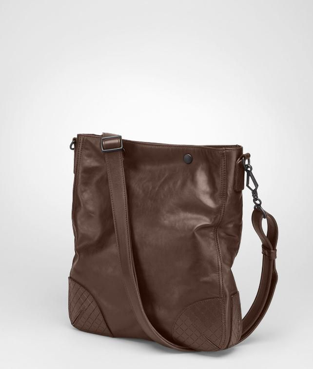 Light Calf Scolpito Cross Body Bag