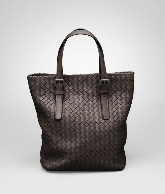 BOTTEGA VENETA Shopper Ebano in Nappa Intrecciata Borsa Shopping D fp