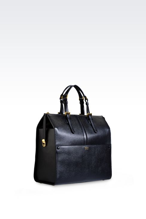 MEDIUM TOTE GIORGIO ARMANI BORGONUOVO BAG: Top handles Women by Armani - 3
