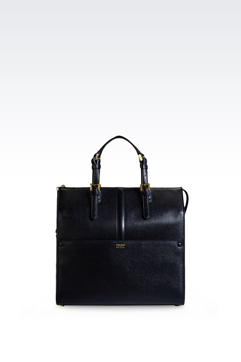MEDIUM TOTE GIORGIO ARMANI BORGONUOVO BAG: Top handles Women by Armani - 1