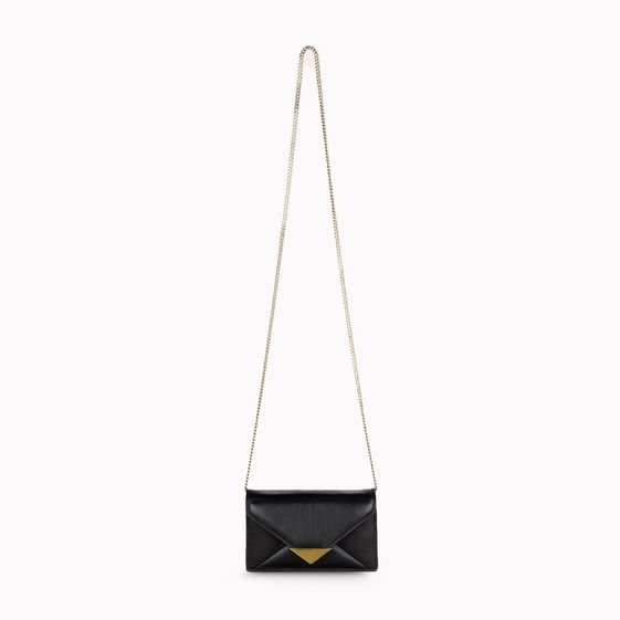Stella McCartney, Ella Faux Nappa and Faux Suede Clutch