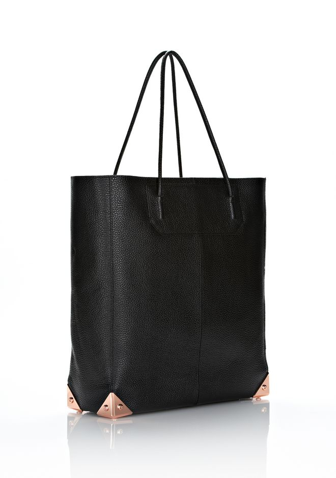 ALEXANDER WANG PRISMA TOTE IN PRINTED BLACK WITH ROSE GOLD TOTE Adult 12_n_d