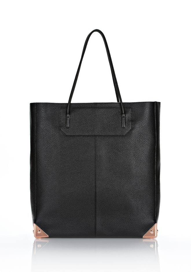ALEXANDER WANG PRISMA TOTE IN PRINTED BLACK WITH ROSE GOLD TOTE Adult 12_n_f