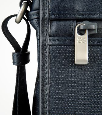 ZEGNA SPORT: Shoulder bag Maroon - Blue - Steel grey - 45195115BI