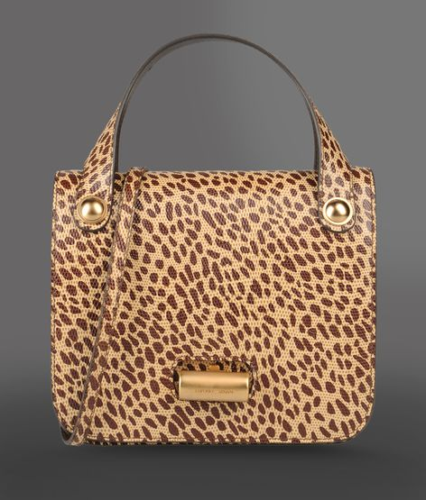 small handbag with animal print