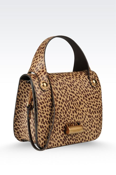 small handbag with animal print: Top handles Women by Armani - 3