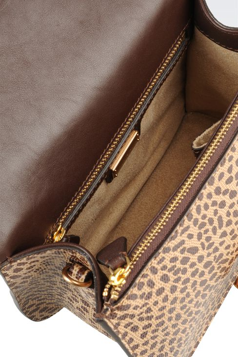 small handbag with animal print: Top handles Women by Armani - 4