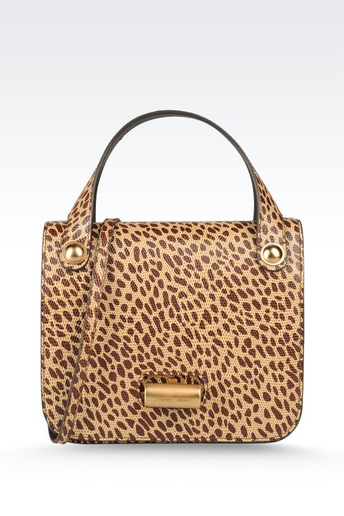 small handbag with animal print: Top handles Women by Armani - 1
