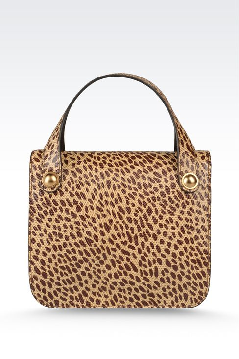 small handbag with animal print: Top handles Women by Armani - 2