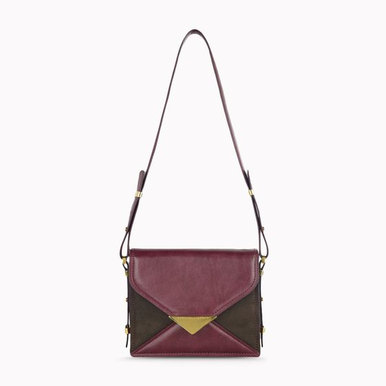Stella McCartney, Ella Faux Nappa and Faux Suede Shoulder Bag