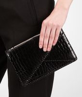 Shiny Crocodile Clutch