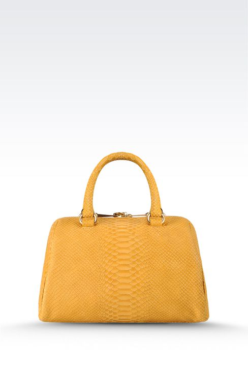 small handbag with snakeskin print: Top handles Women by Armani - 2