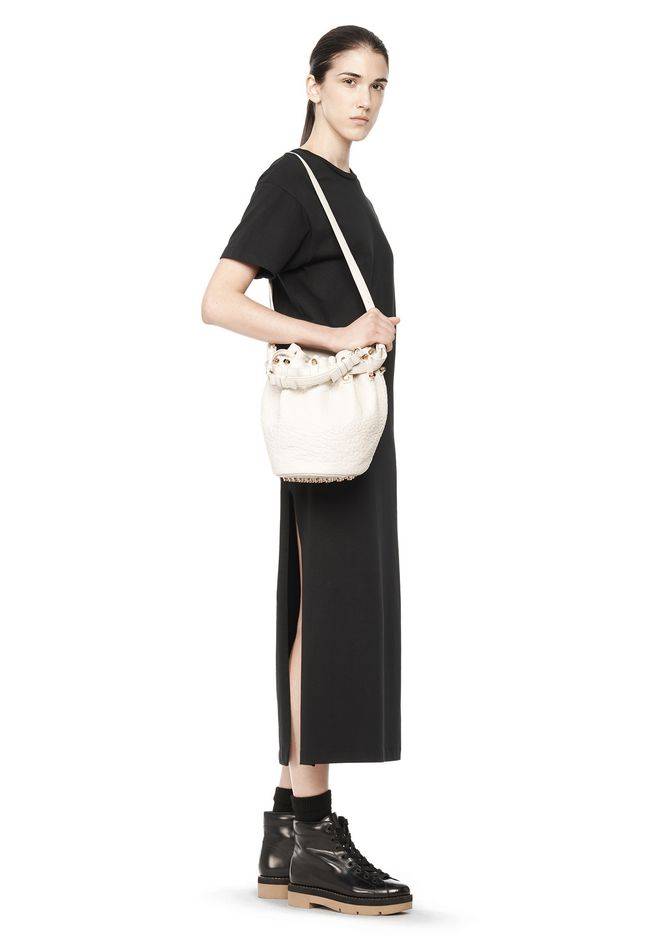 ALEXANDER WANG DIEGO IN SOFT PEROXIDE PEBBLE LEATHER WITH PALE GOLD Shoulder bag Adult 12_n_r