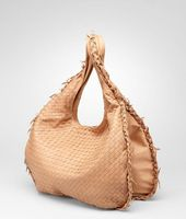 Intrecciato Waxed Leather Duo Hobo