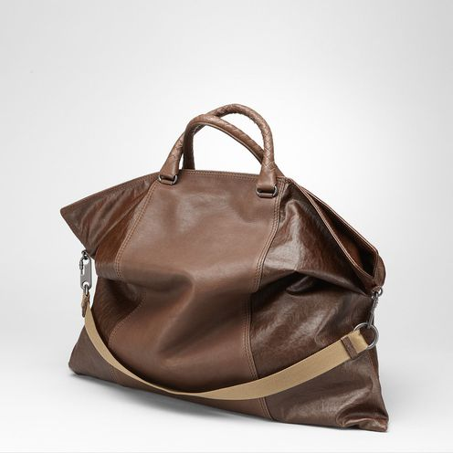 ToteBags100% Linen, LeatherBrown Bottega Veneta