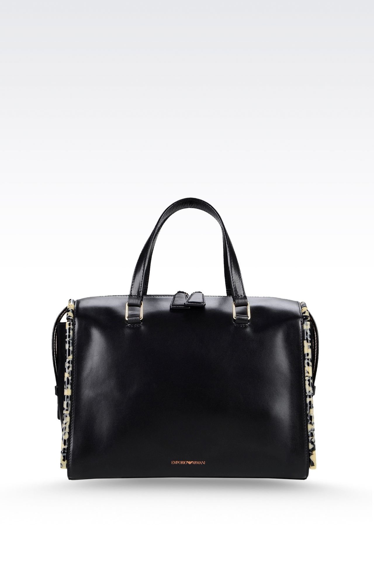 calfskin tote with animal trim: Bauletto bags Women by Armani - 0