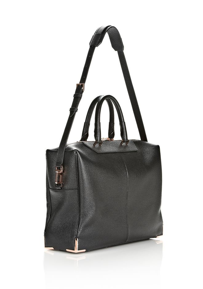 ALEXANDER WANG PRISMA SKELETAL BLACK BRIEFCASE WITH ROSEGOLD TOTE Adult 12_n_e
