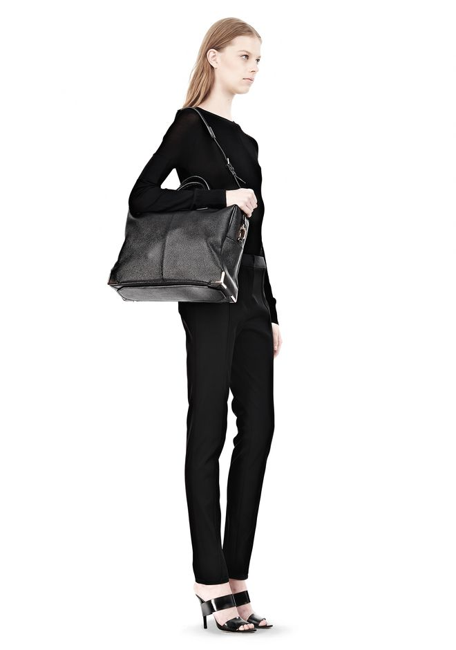 ALEXANDER WANG PRISMA SKELETAL BLACK BRIEFCASE WITH ROSEGOLD TOTE Adult 12_n_r