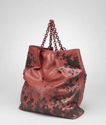 Tote BagBags100% Calf-skin leatherRed Bottega Veneta®