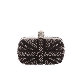 ALEXANDER MCQUEEN, Clutch, Bubble Stud Britannia Skull Box Clutch