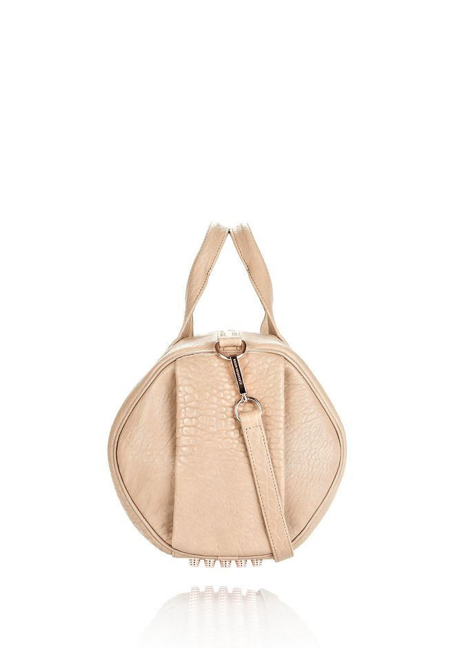 ALEXANDER WANG ROCCO IN LATTE PEBBLE WITH ROSE GOLD Shoulder bag Adult 12_n_d