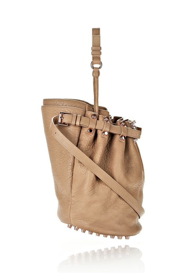 ALEXANDER WANG DIEGO IN LATTE PEBBLE LAMB WITH ROSE GOLD Shoulder bag Adult 12_n_e
