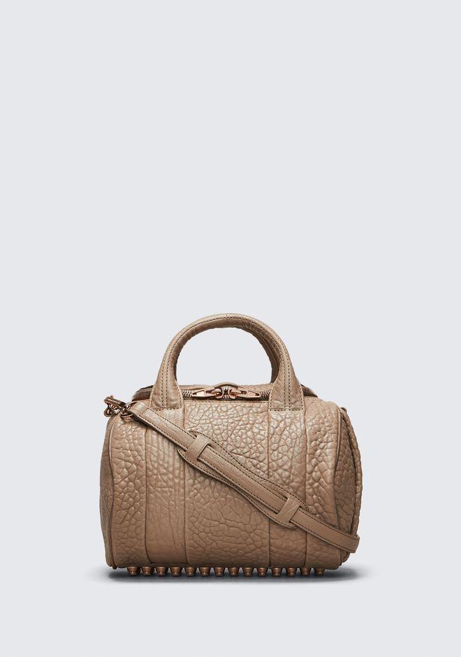 ALEXANDER WANG ROCKIE IN PEBBLED LATTE WITH ROSE GOLD Shoulder bag Adult 12_n_f