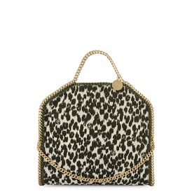 STELLA McCARTNEY, Tote, Falabella Linen Spot Fold Over Tote