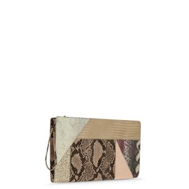 STELLA McCARTNEY, Clutch, Patchwork Clutch Waverley in Übergröße