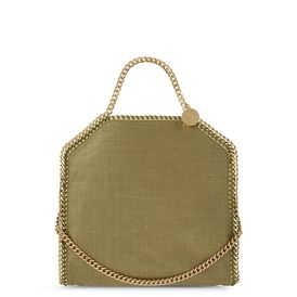 STELLA McCARTNEY, Tote, Falabella Metallic Linen Fold Over Tote