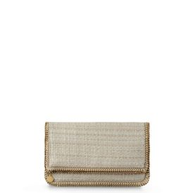 STELLA McCARTNEY, Clutch Bag, Falabella Fold Over Boucle Clutch 