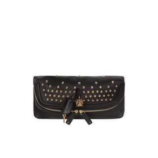 ALEXANDER MCQUEEN, Clutch, Studded Skull Padlock Clutch