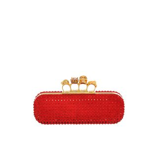ALEXANDER MCQUEEN, Clutch, Crystal Knucklebox Clutch