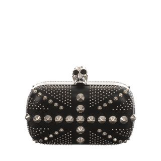 ALEXANDER MCQUEEN, Clutch, Studded Britannia Skull Box Clutch