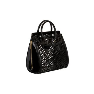 ALEXANDER MCQUEEN, Top Handle, Medium Mirror Honeycomb Heroine
