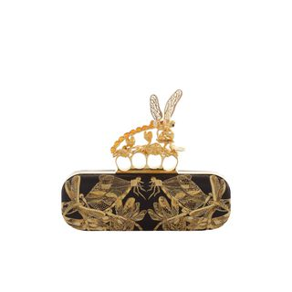 ALEXANDER MCQUEEN, Clutch, Embroidered Dragonfly Knucklebox Clutch