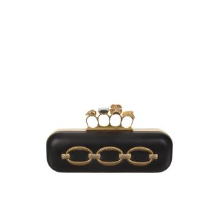 ALEXANDER MCQUEEN, Clutch, Hammered Chain Knucklebox Clutch