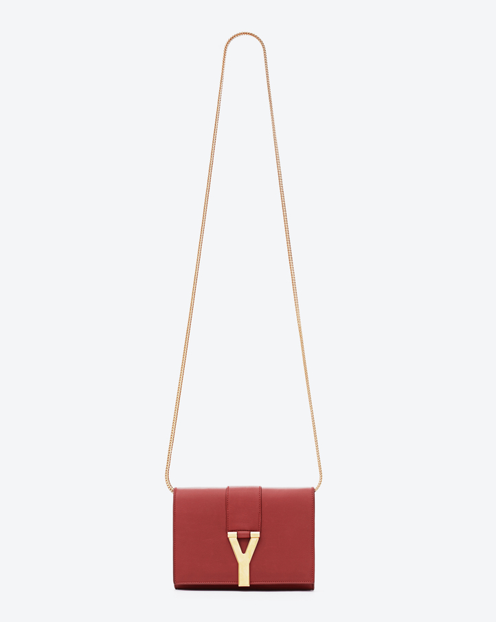 Saint Laurent Mini Pochette Y Rossa In Pelle | YSL.com