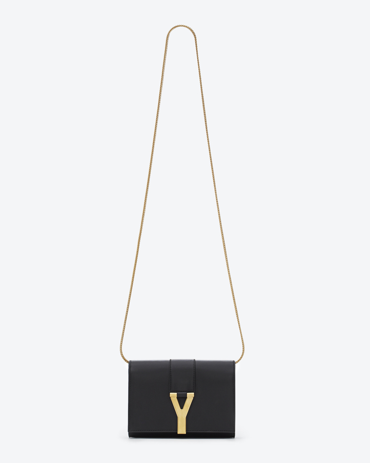 Saint Laurent Classic Small Y Satchel In Black Leather | YSL.com