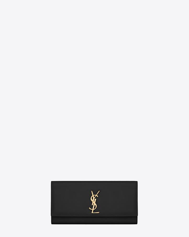 Saint Laurent Classic Monogram Saint Laurent Clutch In Black ...