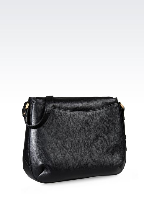 PRINTED LEATHER SHOULDER BAG: Messenger bags Women by Armani - 2