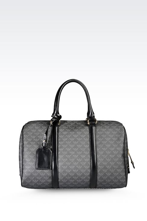 BAULETTO BAG IN PVC WITH ALL OVER LOGO: Bauletto bags Women by Armani - 1