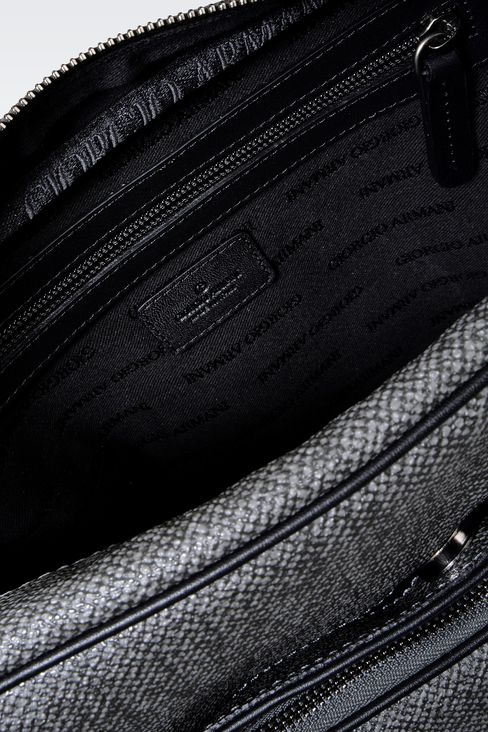 SHOULDER BAG IN PVC WITH LEATHER DETAILING: Messenger bags Men by Armani - 3