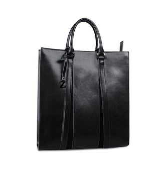 ZZEGNA: Tote Bag Black - 45206655RB