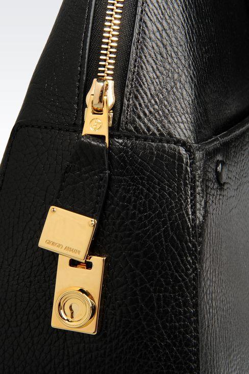 CALFSKIN HANDBAG: Bowling bags Women by Armani - 4