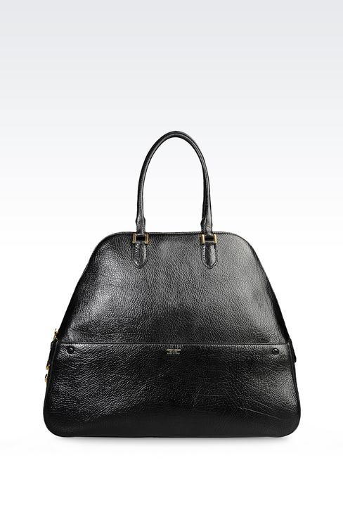 CALFSKIN HANDBAG: Bowling bags Women by Armani - 1