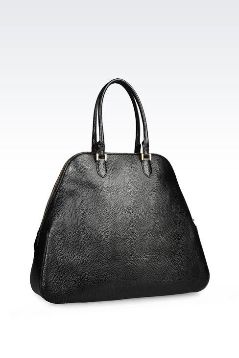 CALFSKIN HANDBAG: Bowling bags Women by Armani - 2