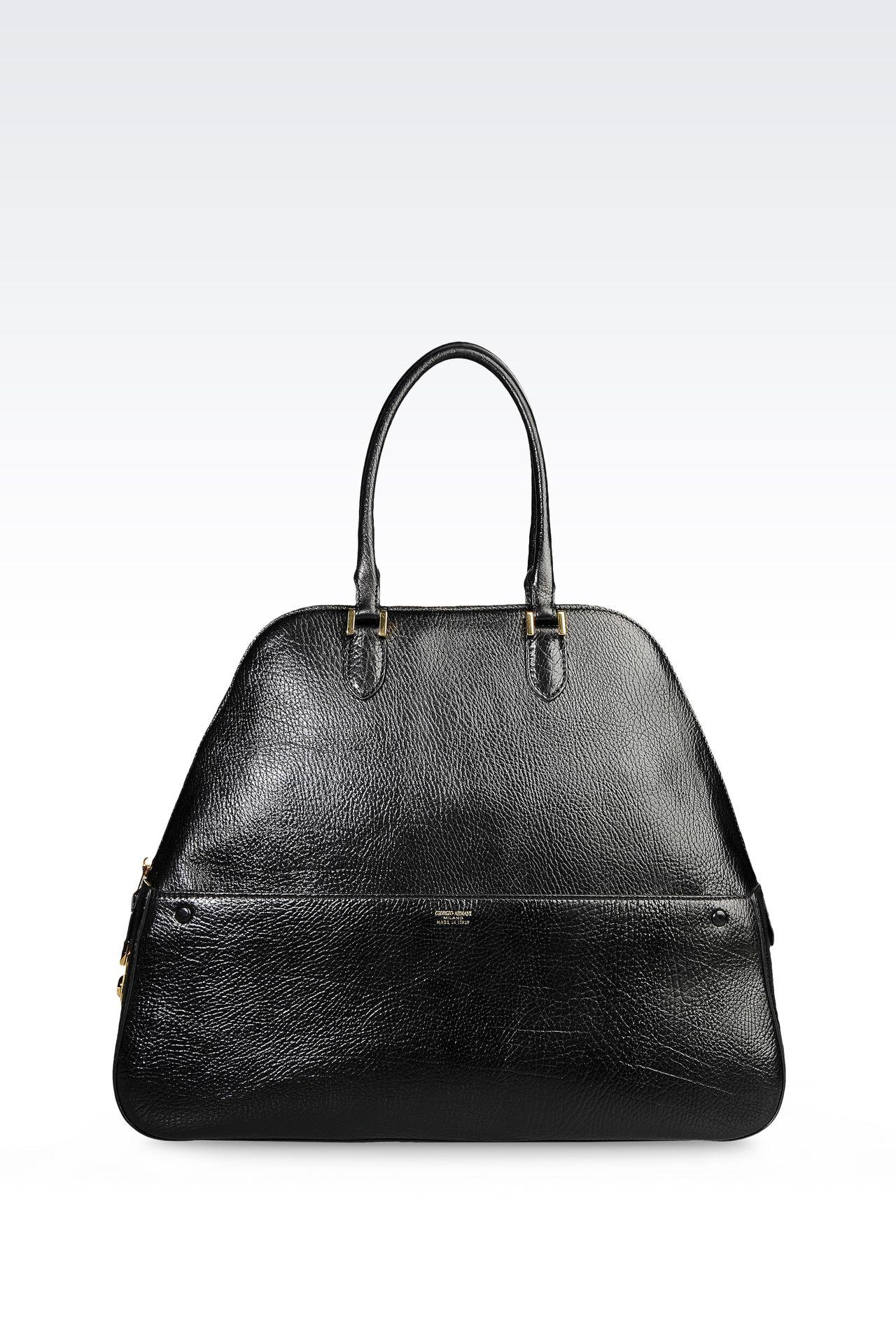 CALFSKIN HANDBAG: Bowling bags Women by Armani - 0